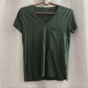 MADEWELL dark oil green t-shirt with pocket